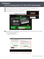 How to download SH-101 PLUG-OUT Synthesizer - Roland