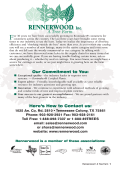 Our Commitment to You: Heres How to Contact us: - Rennerwood