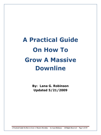 A Practical Guide On How To Grow A Massive Downline