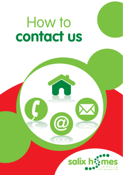 How to contact us:Layout 1 - Salix Homes