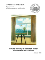 How to draw up a research paper: Information for students