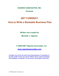 GET FUNDED!!! How to Write a Bankable Business Plan