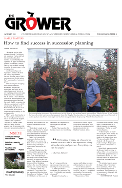 How to find success in succession planning - The Grower