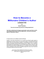 How to Become a Millionaire Childrens Author - Steve Peirces