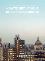 HOW TO SET UP YOUR BUSINESS IN LONDON - London  Partners