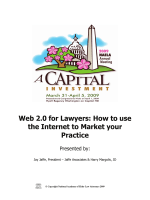 Web 2.0 for Lawyers: How to use the Internet to Market your Practice