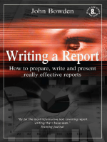 Writing a Report : How to Prepare, Write and Present - Class E4.9