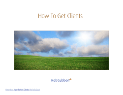 How To Get Clients - Rob Cubbon