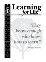 """""""They know enough who know how to learn."""" - OLLI at Duke"""