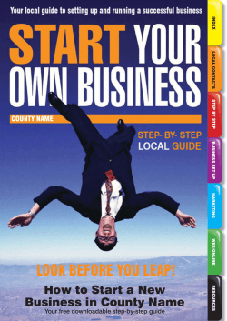 How to Start a New Business in County Name - Start Your Own