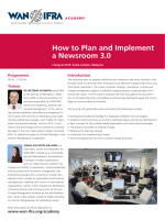 How to Plan and Implement a Newsroom 3.0 - WAN-IFRA