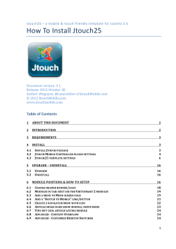 How To Install Jtouch25 - Pro-Solution TM
