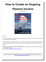How to Create an Ongoing Passive Income - PietPetoors.com