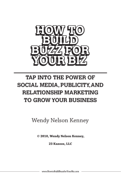 How to Build Buzz for Your Biz6.indd - 23 Kazoos