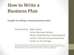 How to Write a Business Plan - JVS Chicago