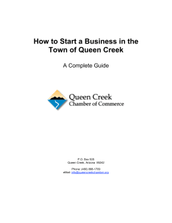 How to Start a Business in the Town of Queen Creek - Chamber