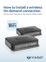 How to install a wireless On demand connection - Viasat
