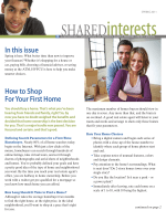 In this issue How to Shop For Your First Home - Hudson Valley