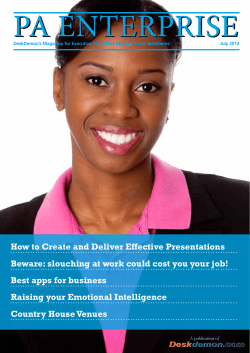 How to Create and Deliver Effective Presentations - DeskDemon