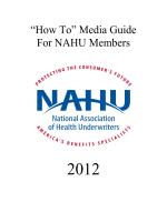 """How To"" Media Guide for NAHU Members 2012"
