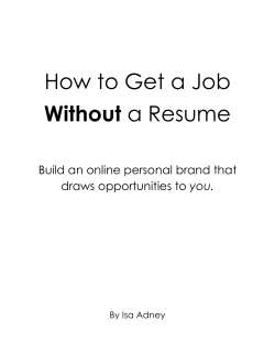 How to Get a Job Without a Resume - GetResponse