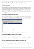 How to Backup Microsoft DFSR data using Symantec NetBackup