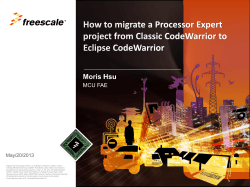 How to solve PE bean migration for 56F84xxx in CodeWarrior V10.3