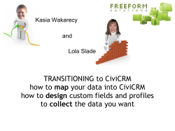 TRANSITIONING to CiviCRM how to map your data into CiviCRM