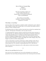 How to Write an Awesome Blog: Volume 1 By Tim