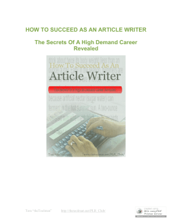 How to succeed at Witing Articles for a Living - americafreebooks.com