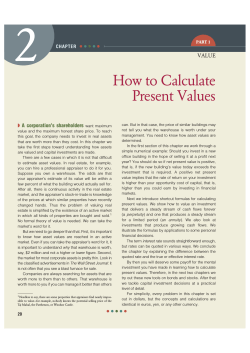 How to Calculate Present Values - Financial  Managerial Accounting