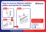 How to remove Stelrad radiator grilles and panels for cleaning
