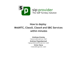 How to deploy WebRTC, Class5, Class4 and SBC - Kamailio