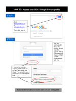 HOW TO: Access your SIGs / Google Groups profile STEP 1. STEP 2.