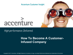 How To Become A Customer- Infused Company - Accenture