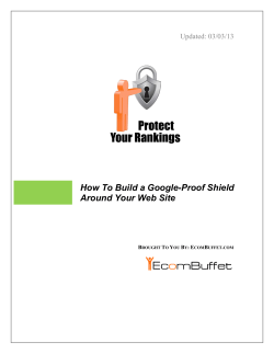 How To Build a Google-Proof Shield Around Your - EcomBuffet.com