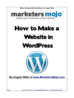 How to Make a Website in WordPress - Marketers Mojo