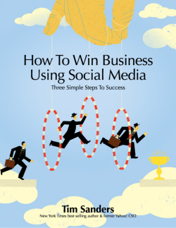 How To Win Business Using Social Media - Sanders Says