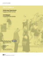 How to contact us Endoscopy Department Telephone 01709