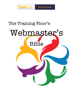 How To Edit Your Website - The Training Floor