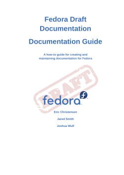 Documentation Guide - A how-to guide for creating and maintaining