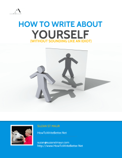 How to Write About Yourself - Birds on the Blog