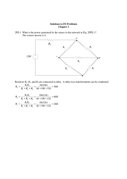 Solutions to FE Problems Chapter 2 2FE-1 What is the - KU Leuven