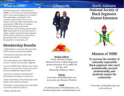 Contact Us North Alabama National Society of What is NSBE? Black