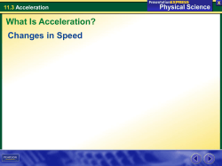 11.3 Acceleration