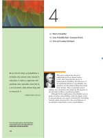 4.1 What Is Probability? 4.2 Some Probability Rules - eBooks