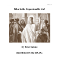 What is the Unpardonable Sin? By Peter Salemi Distributed by the