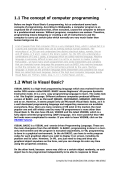 1.1 The concept of computer programming 1.2 What is Visual Basic?