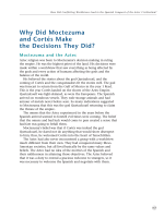 Why Did Moctezuma and Cortés Make the Decisions They Did?