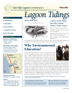 Why Environmental Education? - San Elijo Lagoon Conservancy